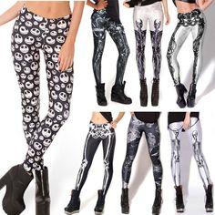Sexy! Gothic! Fitness Women Skeleton Skull Bone Digital Print Leggings Harajuku Punk Leggins Elastic Creative Pants  #purse #cute #hair #stylish #model #outfit #fashion #beauty #makeup #jennifiers #jewelry #outfitoftheday #styles #style #beautiful