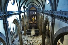 Interior of the Cathedral of Florence, Italy