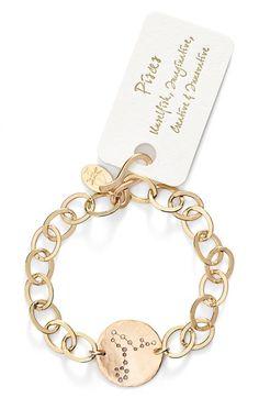 IJA 'Zodiac' 14k-Gold Fill Chain Bracelet available at #Nordstrom