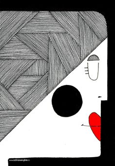 Woman with red lips on Behance Red Lips, Art Direction, Art Drawings, Behance, Illustrations, Ink, Woman, Abstract, Artwork