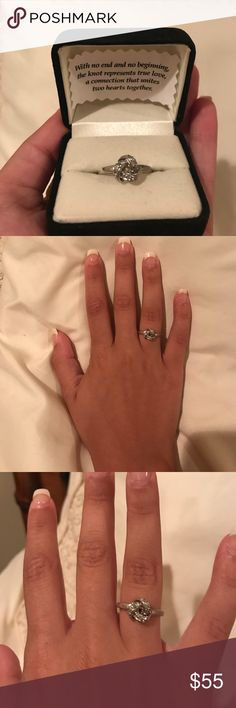 Knot ring (promise ring) Perfect promise ring for your girl!!  Comes with black box and description inside! Silver. Size 6.5. Worn very little. Jewelry Rings