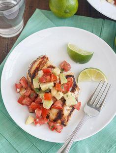 Chicken Recipes : Cilantro-Lime Chicken with Avocado Salsa