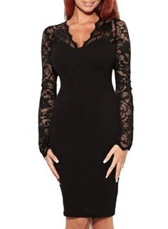 Miusol Women's Sexy Lace Dress V Neck Slim Cocktail Party Dresses,Ship From USA:Amazon:Clothing