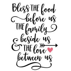 Silhouette Design Store: bless the food before us phrase