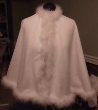 Flowergirls Cape,is designed from white fleece fabric then lined with a white bridal satin. Accented with hand sewn Feather Boa. Bridal Bolero, Wedding Jacket, Baptism Dress, Girls Fleece, White Bridal, Capes, Bridal Accessories, Wedding Gowns, Flower Girl Dresses