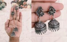 Jewelryclub - Shop from the latest collection of Earrings for women & girls online. Buy studs, ear cuff, drop & more Earrings at best price, COD. Metal Jewelry, Jewelry Art, Silver Jewelry, Women's Earrings, Crochet Earrings, Buy Jewellery Online, Wife And Girlfriend, Girl Online, India