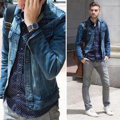 Aaron Wester - Banana Republic Denim Jacket, Joe Fresh Shirt - Feelin' Blue