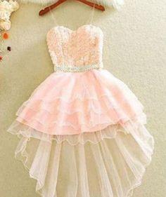 A-line Homecoming Dresses Sleeveless Sweetheart Asymmetrical Lace by olesaweddingdresses, $124.28 USD