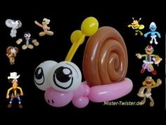 Balloon Animals Snail, Ballon Tiere Schnecke, Modellierballon Ballonfiguren - YouTube