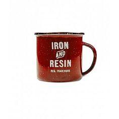 Iron & Resin Camp Mug, Red : Iron & Resin