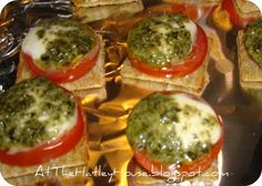 Triscut Appetizar! They are SO yummy and very easy to make so it's a win win!!