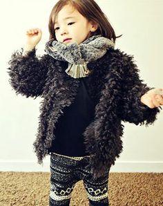 bien a bienコスチュームファーカーディガン - 韓国子供服amber,annikaのtsubomiかわいい輸入服のセレクトショップ