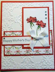 Crafty Maria's Stamping World: Poppy Mother's Day Card - Sketch Frenzy Friday