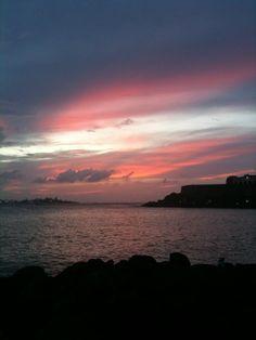 Sunset in Old San Juan, Puerto Rico