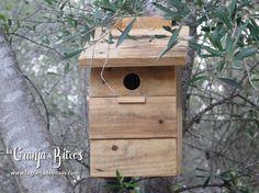 Caja nido para páridos (carboneros y herrerillos)  www.lagranjadebitxos.com Bird, Outdoor Decor, House, Home Decor, Nesting Boxes, Bug Hotel, Farmhouse, Homemade Home Decor, Birds