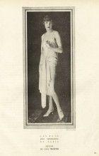 """Worth 1927 """"The Most Beautiful Mannequins of Paris"""" Hélène Fashion Model, Evening Dress"""