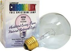 Shop the best Chromalux Full Spectrum Light Bulb - Clear 40 Watt 1 Unit products at Swanson Health Products. Trusted since we offer trusted quality and great value on Chromalux Full Spectrum Light Bulb - Clear 40 Watt 1 Unit products. Makeup Storage, Makeup Organization, Alice In Wonderland Makeup, Full Spectrum Light, Diy Vanity Mirror, Save Mother Earth, Clear Light Bulbs, Product Label, Mirror With Lights