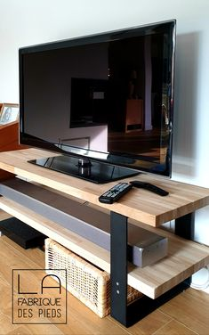 TV stand with flat iron stand - Home Decor Ideas