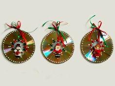 Resultado de imagen de como decorar un cd para navidad