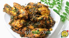 Chicken & Drumstick Leaves Stir Fry - By VahChef @ VahRehVah.com