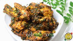 Chicken & Drumstick Leaves Stir Fry - By VahChef @ VahRehVah.com