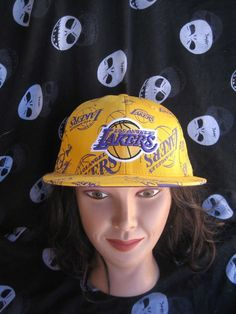 8e88ceef5a1 Los Angeles lakers all over adidas baseball hat size 7 1 2 la nba basketball
