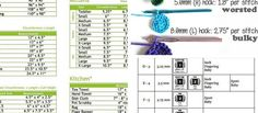 How much yarn do you need to make your next crochet project? Planning in advance is easy if you have the right handy cheat sheets. Print these awesome charts and helpful reminders to make your crochet experience even better! Use these charts to estimates the size and how much yarn you will need for a …