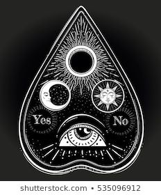 Bohemian Hand Drawn Ouija That Consists Stock Vector (Royalty Free) 535096912 - bohemio Ouija Tattoo, Occult Tattoo, Esoteric Tattoo, Body Art Tattoos, New Tattoos, Hand Tattoos, Cool Tattoos, Tattoo Art, Tattoo Mond