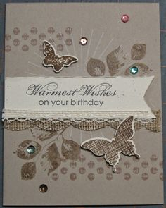 Kinda Eclectic, Other new supplies used on this card are the In Color Sequin Assortment and the Venetian Crochet Trim. The sentiment is from the stamp set Blooming with Kindness.