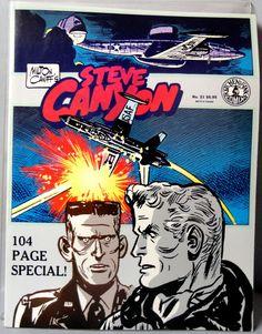 Milton CANIFF STEVE CANYON #21 T V Show Scorchy Smith Cold War Era Jet Aviation Action Adventure Newspaper Comic Strip Reprints Kitchen Sink