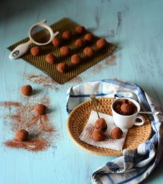 Chocolate Orange Macadamia Truffles, made with avocado and coconut