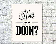 Typography Print Quote Print FRIENDS Joey Tribbiani by paperchat, $24.00