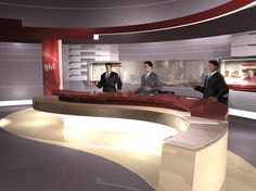 Al Rai TV, News Studio, Kuwait - FLINT SKALLEN