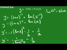 derivada de una suma de funciones logarítmicas