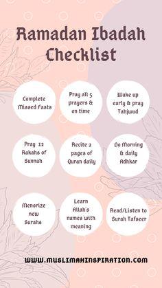 ramadan quotes (Article) How to prep up for Ramadan FREE Ramadan Preparation Ibadah Checklist Muslimah Inspirational Network