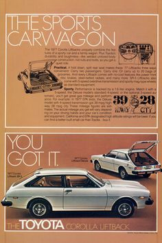 1984 TOYOTA Corolla SR5 Vintage Original Print AD Silver car photo French Canada