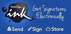 DocuSign Ink-Sign & Send Docs, digital signature app