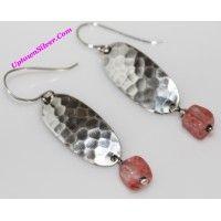 Silpada Artisan Jewelry Pink Cherry Crystal 925 Sterling Silver..