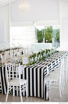 Black and white striped table with gold framed menus Reception Layout, Gold Cutlery, Striped Table, Winter Weddings, Florists, Layout Design, Sephora, Wedding Planner, Photographers
