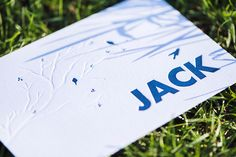 Geboortekaartje Letterpress Jack