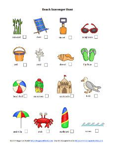 Free Printable Beach Scavenger Hunt- turn your next trip into a game!