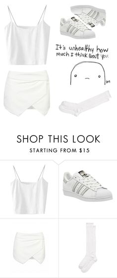 """Xmas white"" by sasha06527 ❤ liked on Polyvore featuring adidas and Kate Spade"