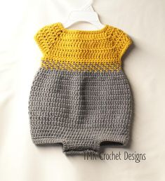 Looking for your next project? You're going to love Crochet Baby Romper.  by designer TMKCrochet. - via @Craftsy