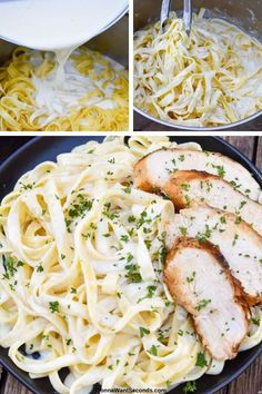 *NEW* This dreamy Olive Garden chicken alfredo is a decadent version that comes together quickly with a creamy robust style that satisfies all the senses. Source by gonnawantseconds Look style Crockpot Chicken Alfredo, Easy Homemade Alfredo Sauce, Chicken Alfredo Casserole, Chicken Alfredo Lasagna, Chicken Broccoli Alfredo, Chicken Fettuccine, Olive Garden Fettuccine Alfredo Recipe, Healthy Chicken Alfredo, Pasta Recipes