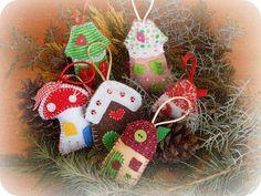 In & around my house : Felt cristmas houses ! Christmas Houses, Felt Christmas, Christmas Ornaments, My House, Holiday Decor, Home Decor, Decoration Home, Room Decor, Christmas Jewelry