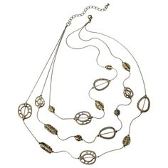 Illusion Necklace - Brass - Target Online Clearance