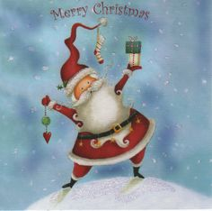 Christmas card - Jolly old St Nick