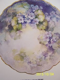 "China Painting Study 69 ""Double Violets"" Jean Sadler 2 Pages 