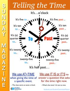 Telling the time -         Repinned by Chesapeake College Adult Ed. We offer free classes on the Eastern Shore of MD to help you earn your GED - H.S. Diploma or Learn English (ESL) .   For GED classes contact Danielle Thomas 410-829-6043 dthomas@chesapeke.edu  For ESL classes contact Karen Luceti - 410-443-1163  Kluceti@chesapeake.edu .  www.chesapeake.edu