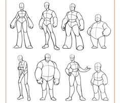 Image result for character design references body shapes